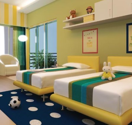 Awesome view of a kids room completely automated with Delfin's Home Automation Systems