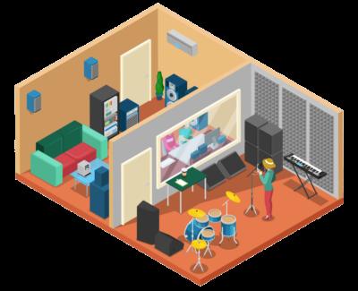 music-recording-studio-interior
